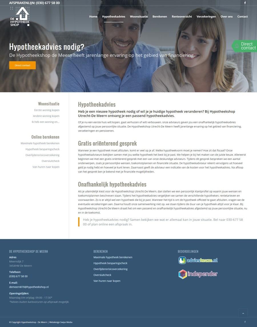 Hypotheekadvies - Hypotheekshop De Meern