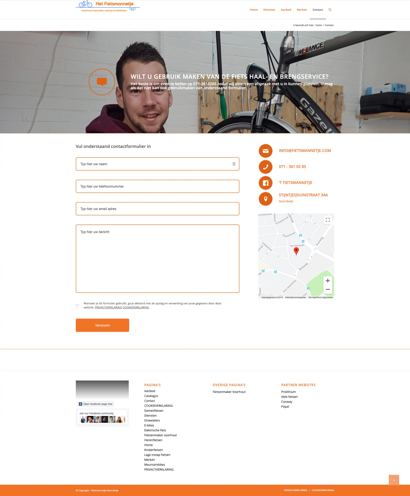 Fietsmannetje - Contact