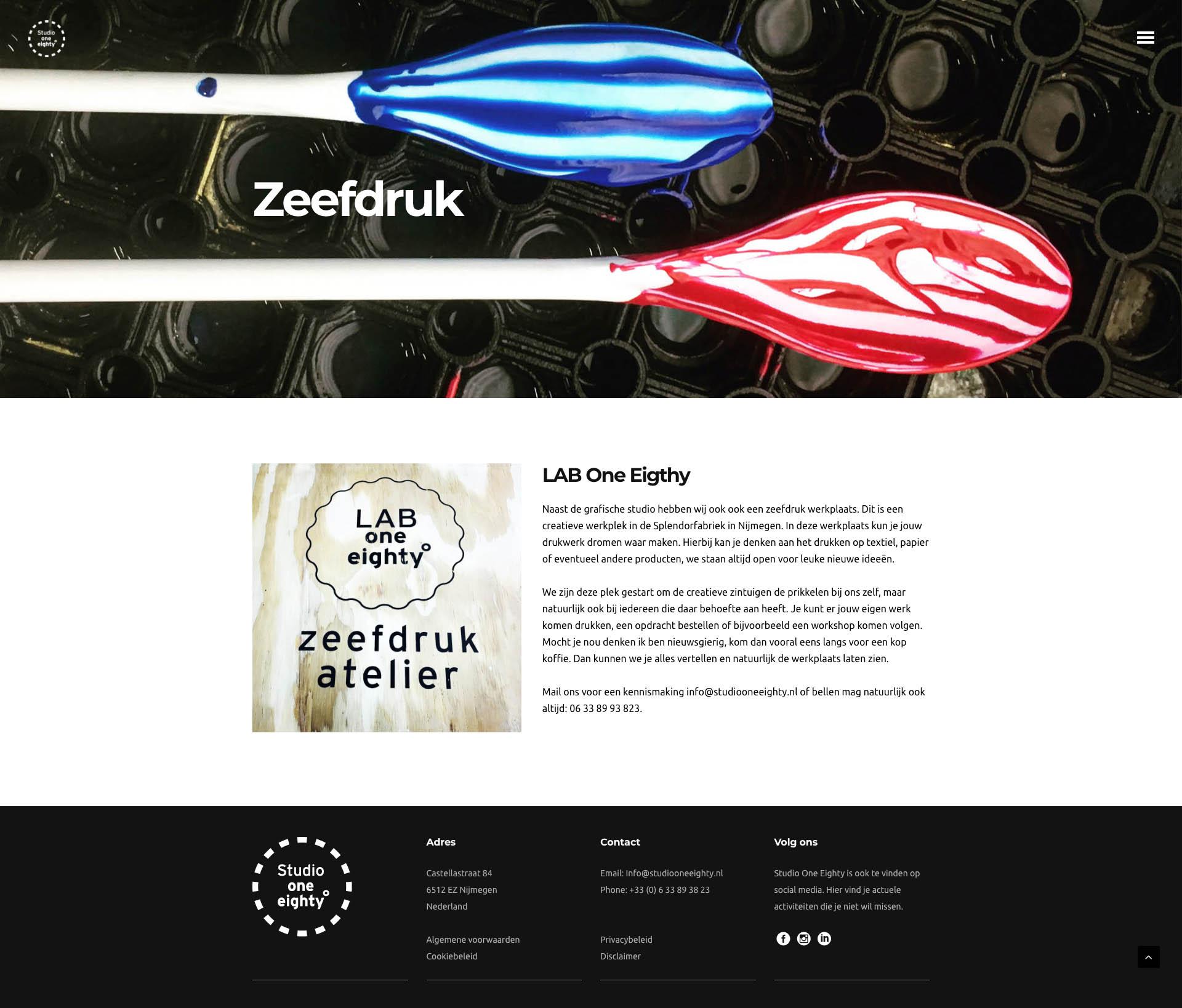 Studio One Eighty - Zeefdruk