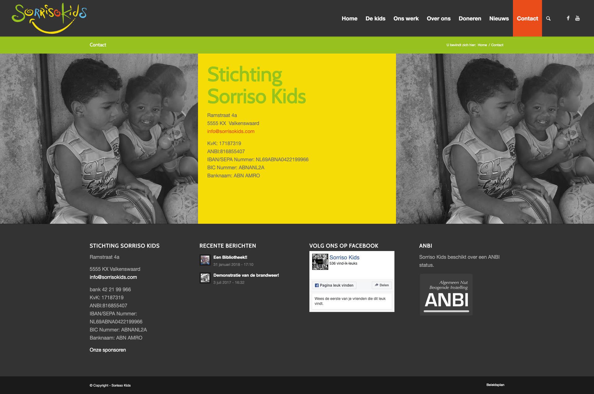 Sorisso Kids - Contact